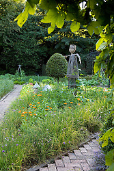 Scarecrow in the vegetable garden at Ballymaloe Cookery school