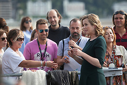 25.09.2015, Madrid, San Sebastian, ESP, San Sebastian International Film Festival, im Bild Awarded actress Emily Watson signs autographs during a photocall // at 63rd Donostia Zinemaldia, San Sebastian International Film Festival in Madrid in San Sebastian, Spain on 2015/09/25. EXPA Pictures © 2015, PhotoCredit: EXPA/ Alterphotos/ Victor Blanco<br /> <br /> *****ATTENTION - OUT of ESP, SUI*****