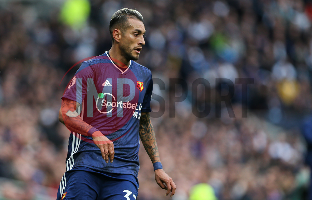Roberto Pereyra of Watford - Mandatory by-line: Arron Gent/JMP - 19/10/2019 - FOOTBALL - Tottenham Hotspur Stadium - London, England - Tottenham Hotspur v Watford - Premier League