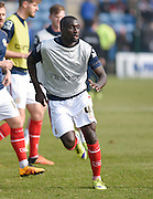 Crewe defender Zoumana Bakayogo during the Sky Bet League 1 match between Gillingham and Crewe Alexandra at the MEMS Priestfield Stadium, Gillingham, England on 12 March 2016. Photo by David Charbit.