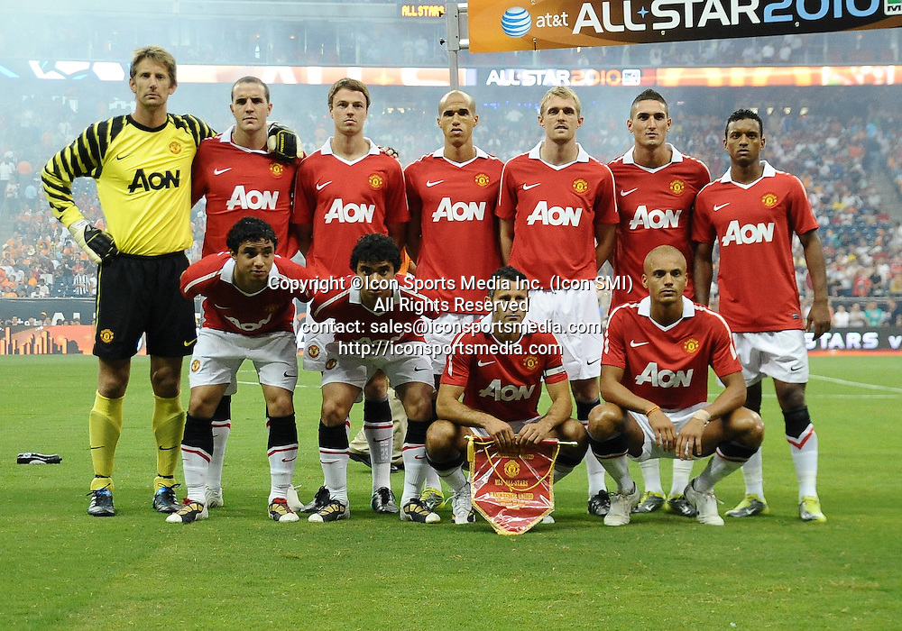 28 July 2010: Manchester United poses for a team photograph before the MLS All-Star game at Reliant Stadium in Houston, TX. Manchester United defeated the MLS All-Stars 5-2.