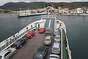 Greece, the port town of Galifa the ferry harbour
