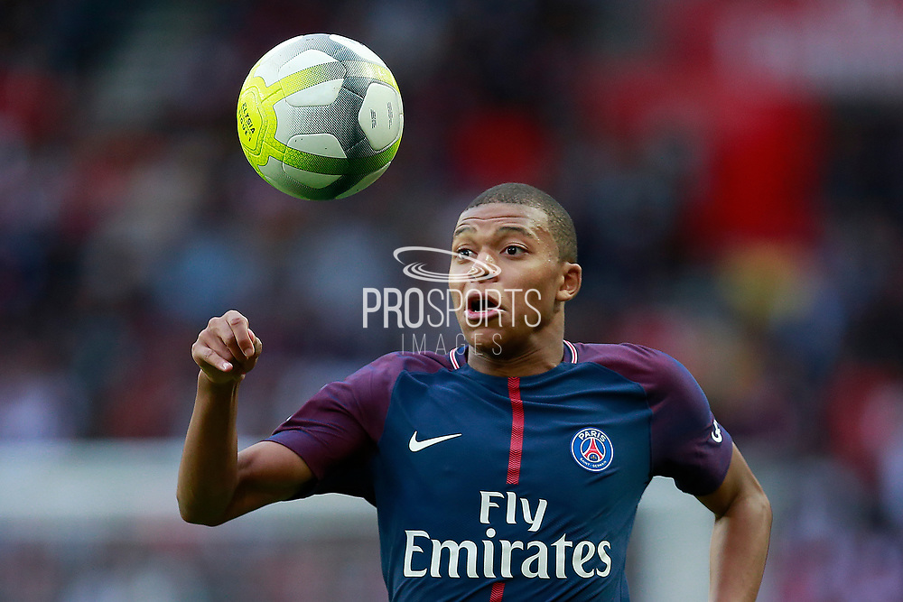 Paris Saint Germain's French forward Kylian Mbappe reacts during the French Championship Ligue 1 football match between Paris Saint-Germain and Girondins de Bordeaux on September 30, 2017 at the Parc des Princes stadium in Paris, France - Photo Benjamin Cremel / ProSportsImages / DPPI