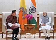 01.11.2017; Thimpu, Bhutan: KING WANGCHUCK OF BHUTAN MEETS INDIAN PM MODI<br /> King Wangchuck and Queen Jetsun are on an official visit to India.<br /> Mandatory Credit Photo: &copy;NEWSPIX INTERNATIONAL<br /> <br /> IMMEDIATE CONFIRMATION OF USAGE REQUIRED:<br /> Newspix International, 31 Chinnery Hill, Bishop's Stortford, ENGLAND CM23 3PS<br /> Tel:+441279 324672  ; Fax: +441279656877<br /> Mobile:  07775681153<br /> e-mail: info@newspixinternational.co.uk<br /> Please refer to usage terms. All Fees Payable To Newspix International