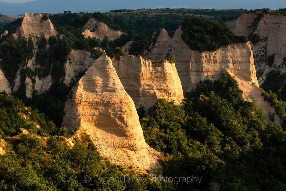 Natural sand pyramids