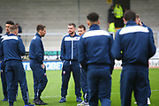 Bolton players arrive at the Pirelli Stadium during the EFL Sky Bet Championship match between Burton Albion and Bolton Wanderers at the Pirelli Stadium, Burton upon Trent, England on 28 April 2018. Picture by John Potts.