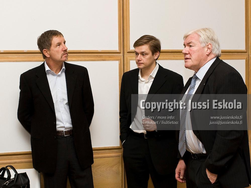 Stuart Baxter, Kimmo J. Lipponen, Pekka Hämäläinen. SPL:n Visio 2020 -tilaisuus. 28.1.2008. Photo: Jussi Eskola