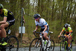 Marianne Vos (NED) climbs Bosberg at Brabantse Pijl 2018, a 136.8 km road race starting and finishing in Gooik on April 11, 2018. Photo by Sean Robinson/Velofocus.com
