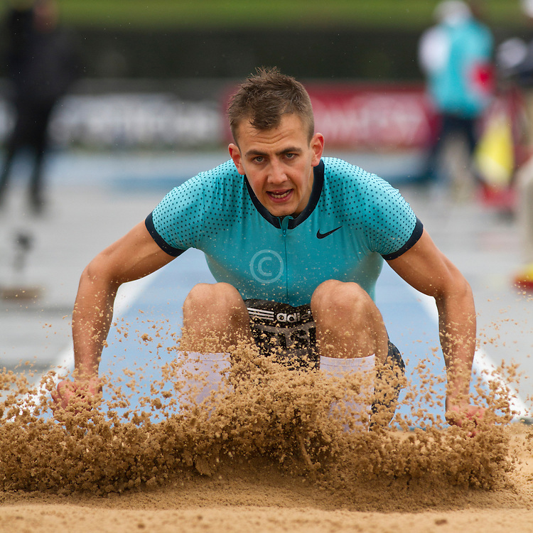 adidas Grand Prix Diamond League professional track & field meet: mens triple jump, Peder P. NIELSEN, Denmark