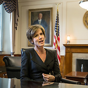 WASHINGTON, DC - MAY15: Deputy Attorney General Sally Yates, at the Justice Department, May 15, 2015, in Washington, DC.  Yates, who was confirmed by the Senate yesterday, is a former career prosecutor from Atlanta. (Photo by Evelyn Hockstein/For The Washington Post)