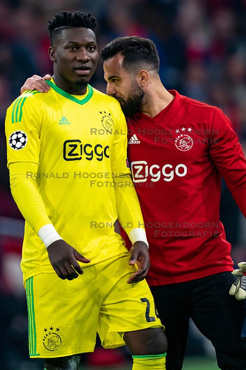 08-05-2019 NED: Semi Final Champions League AFC Ajax - Tottenham Hotspur, Amsterdam<br /> After a dramatic ending, Ajax has not been able to reach the final of the Champions League. In the final second Tottenham Hotspur scored 3-2 / Andre Onana #24 of Ajax
