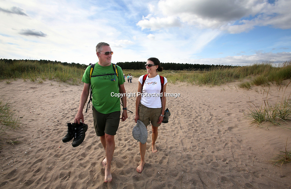 Sand dunes near Tentsmuir forest Fife. 2015.Photograph David Cheskin