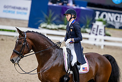 GRAVES Laura (USA), Verdades<br /> Göteborg - Gothenburg Horse Show 2019 <br /> FEI Dressage World Cup™ Final I<br /> Int. dressage competition - Grand Prix de Dressage<br /> Longines FEI Jumping World Cup™ Final and FEI Dressage World Cup™ Final<br /> 05. April 2019<br /> © www.sportfotos-lafrentz.de/Stefan Lafrentz