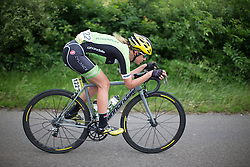 Doris Schweizer (SUI) of Cylance Pro Cycling tries to regain contact with the peloton during the Aviva Women's Tour 2016 - Stage 4. A 119.2 km road race from Nottingham to Stoke-on-Trent, UK on June 18th 2016.