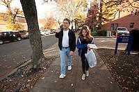 08 Nov 2009, Washington, DC, USA --- Senator Al Franken walks on Capitol Hill with his niece, Manui Franken. | Location: Washington, USA. --- Image by © Owen Franken/Corbis