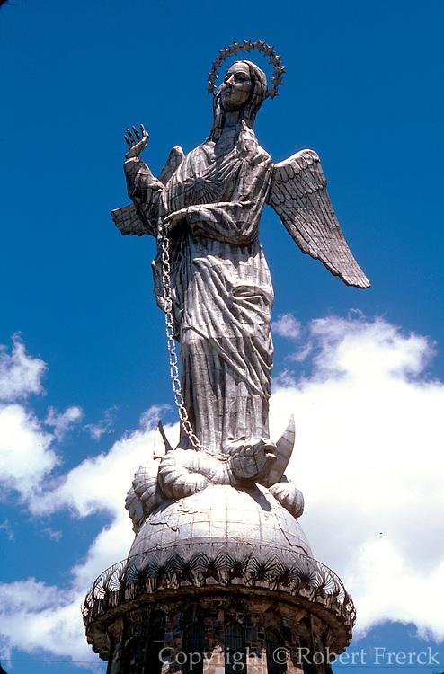 ECUADOR, QUITO Virgin of Quito on Cerro Panecillo