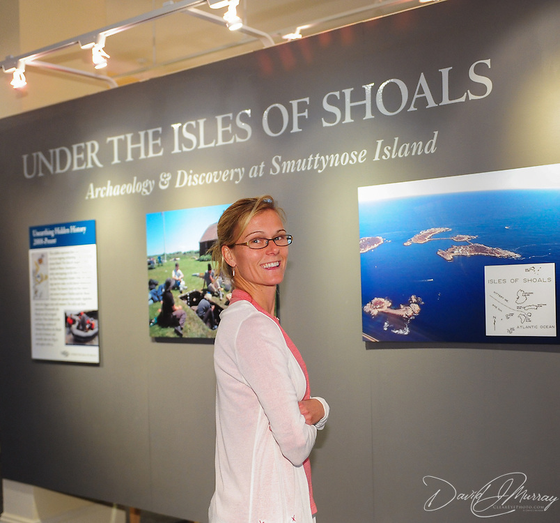 A visitor checks out the Under the Isles of Shoals exhibit at The Discover Portsmouth Center in Portsmouth, NH.