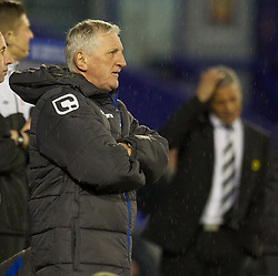 BIRKENHEAD, ENGLAND - Tuesday, March 6, 2012: Tranmere Rovers' new manager Ronnie Moore during the Football League One match against Notts County at Prenton Park. (Pic by David Rawcliffe/Propaganda)