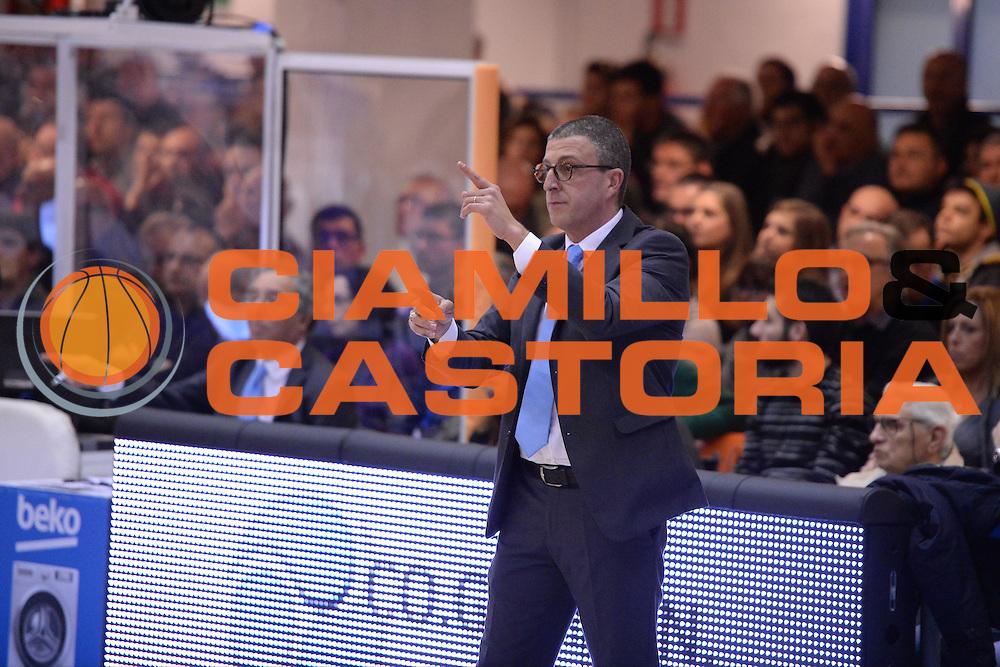 DESCRIZIONE : Brindisi  Lega A 2014-15 Enel Brindisi Upea Capo d'Orlando<br /> GIOCATORE : Gricoli Giulio<br /> CATEGORIA : Allenatore Coach<br /> SQUADRA : Upea Capo d'Orlando<br /> EVENTO : Campionato Lega A 2014-2015<br /> GARA :Enel Brindisi Upea Capo d'Orlando<br /> DATA : 21/12/2014<br /> SPORT : Pallacanestro<br /> AUTORE : Agenzia Ciamillo-Castoria/M.Longo<br /> Galleria : Lega Basket A 2014-2015<br /> Fotonotizia : <br /> Predefinita :