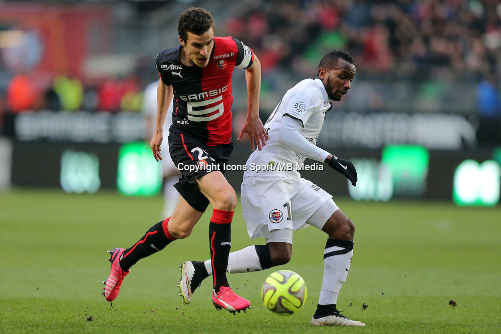 Romain DANZE / Emmanuel IMMOROU  - 25.01.2015 - Rennes / Caen  - 22eme journee de Ligue1<br /> Photo : Vincent Michel / Icon Sport *** Local Caption ***