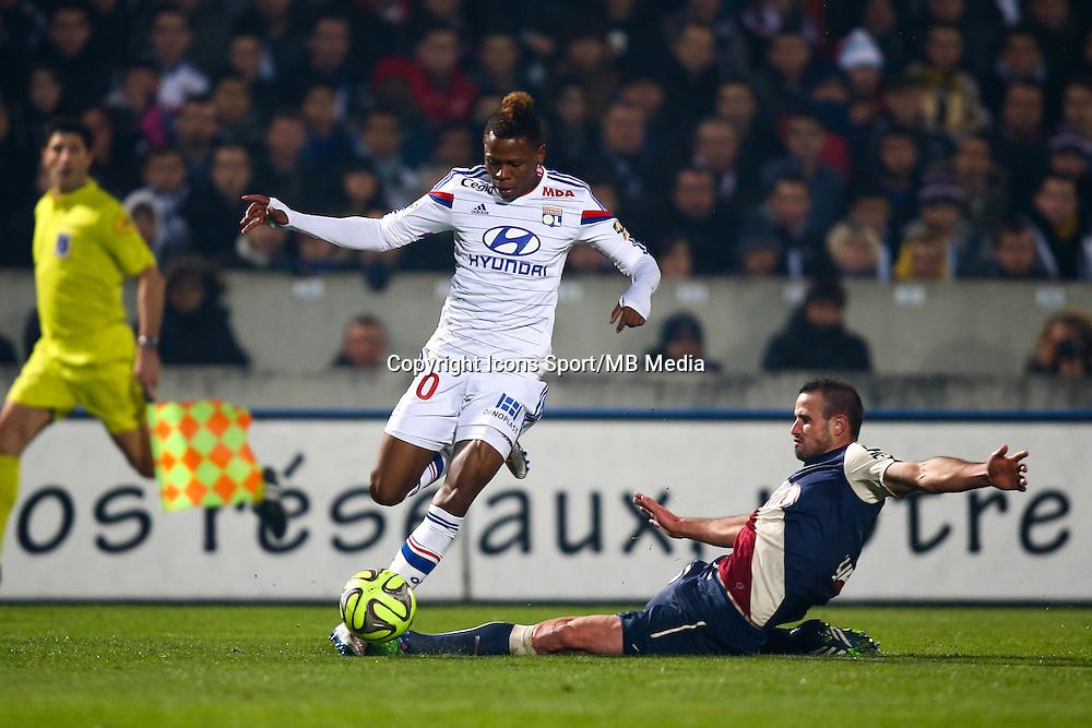 Nicolas Pallois / Clinton Njie - Faute Carton rouge - 21.12.2014 - Bordeaux / Lyon - 19eme journee de Ligue 1 -<br />Photo : Manuel Blondeau / Icon Sport