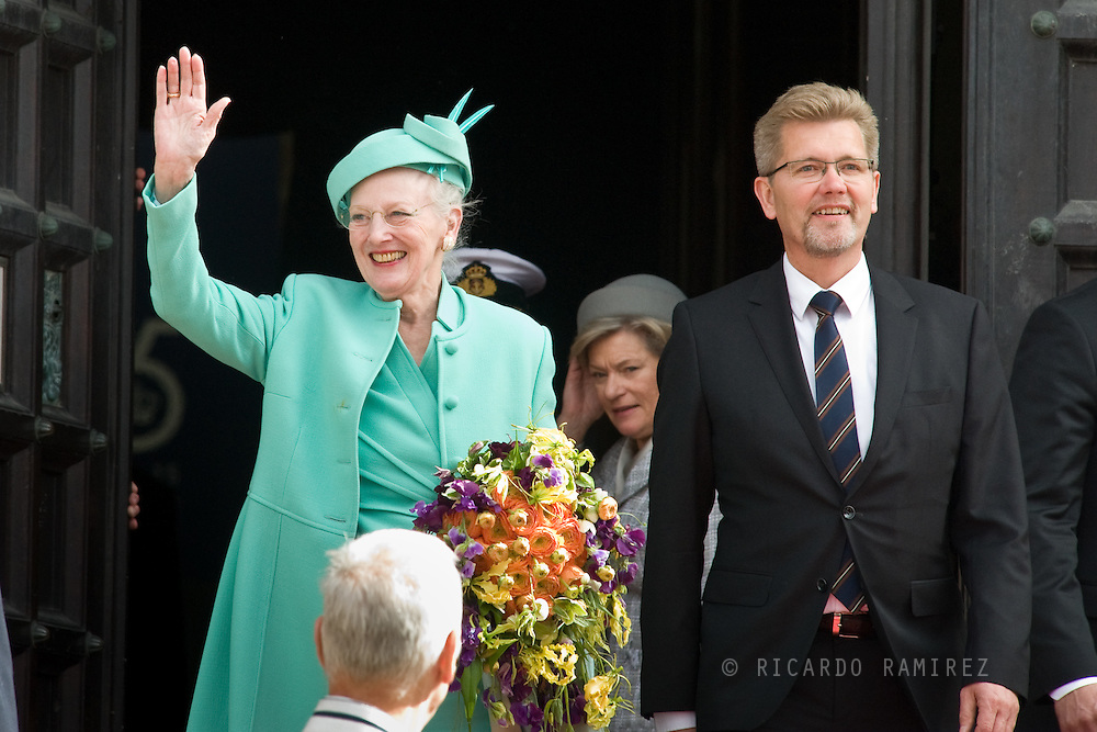16.04.2015. Copenhagen, Denmark.<br /> Queen Margrethe II of Denmark and The Mayor of Copenhagen during festivities for her 75th birthday.<br /> Photo:© Ricardo Ramirez