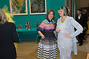 KIRSTY WARK; PHILIPPA PERRY, Royal Academy Summer exhibition private view. Piccadilly. London. 3 June 2015