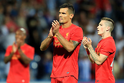 Dejan Lovren of Liverpool thanks the crowd - Mandatory by-line: Matt McNulty/JMP - 20/07/2016 - FOOTBALL - John Smith's Stadium - Huddersfield, England - Huddersfield Town v Liverpool - Pre-season friendly
