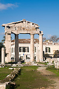 Greece, Athens, The Roman Agora Gate of Athena Archegetis. The entrance to the Agora