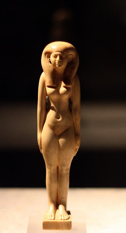 Standing figure of Tadja XXXV Dynasty, c700BC Abusir el-Meleq Ivory.