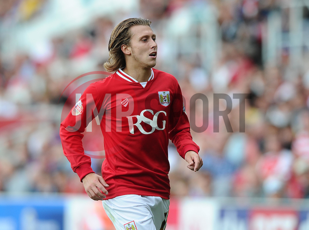 Luke Freeman of Bristol City  - Mandatory byline: Joe Meredith/JMP - 07966386802 - 15/08/2015 - FOOTBALL - Ashton Gate -Bristol,England - Bristol City v Brentford - Sky Bet Championship