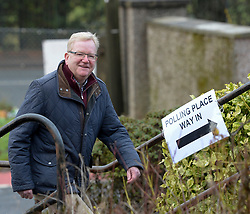 Scottish Conservatives leader Jackson Carlaw casts his vote in Clarkson, Glasgow.<br /> <br /> © Dave Johnston / EEm