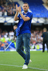 17th August 2017 - UEFA Europa League - Play-Off (1st Leg) - Everton v Hajduk Split - New Everton signing Gylfi Sigurdsson applauds the support before the match - Photo: Simon Stacpoole / Offside.