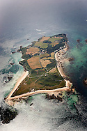 Herm from the noth showing shell beach at 2000 ft