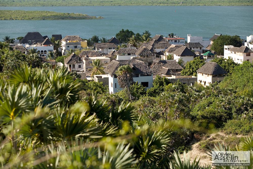View of the town of Shella, Lamu Island, Kenya, Africa