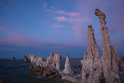 """Sunset at Mono Lake 2"" - These tufa were photographed at Mono Lake, CA"