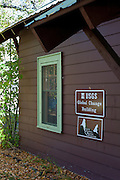 Exterior of the United States Geological Survey's Global Change building in Glacier National Park, West Glacier, Montana, on Tuesday, October 7, 2014.