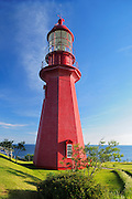 Lighthouse on Gaspe Peninsula <br /> La Martre<br /> Quebec<br /> Canada