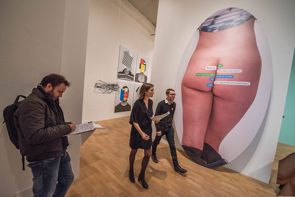 EOlaf Breuning Text Butt 2015 - lectronic Superhighway (2016-1966) at the Whitechapel Gallery opens on 29 January to show the impact of computers and internet technologies on contemporary art. The exhibition brings together over 100 works including film, photography, interactive works, painting and drawing by over 70 artists. Arranged in reverse chronological order, the exhibition begins with works made at the arrival of the new millennium, and ends with artefacts from Experiments in Art and Technology (E.A.T), an iconic, artistic moment that took place in 1966. Highlights include: Internet Dream (1994) by Nam June Paik, 'the father of video art' - a video-wall of 52 monitors displaying electronically-processed images; New large-scale works by Douglas Coupland, author of 'Generation X: Tales for an Accelerated Culture', on show in the UK for the first time; Photographs from Amalia Ulman's Instagram based selfie project Excellences & Perfections; and a wall covered in an image by artist Constant Dullaart of Jennifer in Paradise, the first picture ever to be manipulated using Photoshop (Taken by one of the creators of Photoshop on holiday in the 80s, it depicts his girlfriend on a tropical beach).