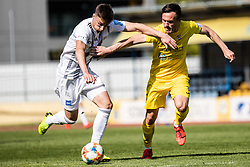 Rok Sirk of NS Mura and Tilen Klemencic of NK Domzale during Football match between NK Domzale and NS Mura in 30th Round of Prva liga Telekom Slovenije 2018/19, on May 1st, 2019, in Sports park Domzale, Slovenia. Photo by Grega Valancic / Sportida