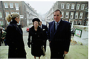 Victoria Aitken, Margaret Thatcher and Jonathan Aitken. . . Service of Thanksgiving For John Aspinall, St. John's Smith Sq. London. f© Copyright Photograph by Dafydd Jones 66 Stockwell Park Rd. London SW9 0DA Tel 020 7733 0108 www.dafjones.com