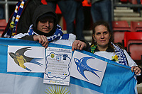 Football - 2018 / 2019 Premier League - Southampton vs. Cardiff City<br /> <br /> Cardiff Fans with a banner in tribute to Emiliano Sala. Argentine-born Sala, 28, was killed whilst travelling to Cardiff in a light aircraft piloted by David Ibbotson, which went missing over the English Channel on 21 January at St Mary's Stadium Southampton<br /> <br /> COLORSPORT/SHAUN BOGGUST