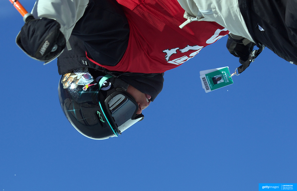 Peter Crook, British Virgin Islands, in action in the Halfpipe Finals during The North Face Freeski Open at Snow Park, Wanaka, New Zealand, 3rd September 2011. Photo Tim Clayton...