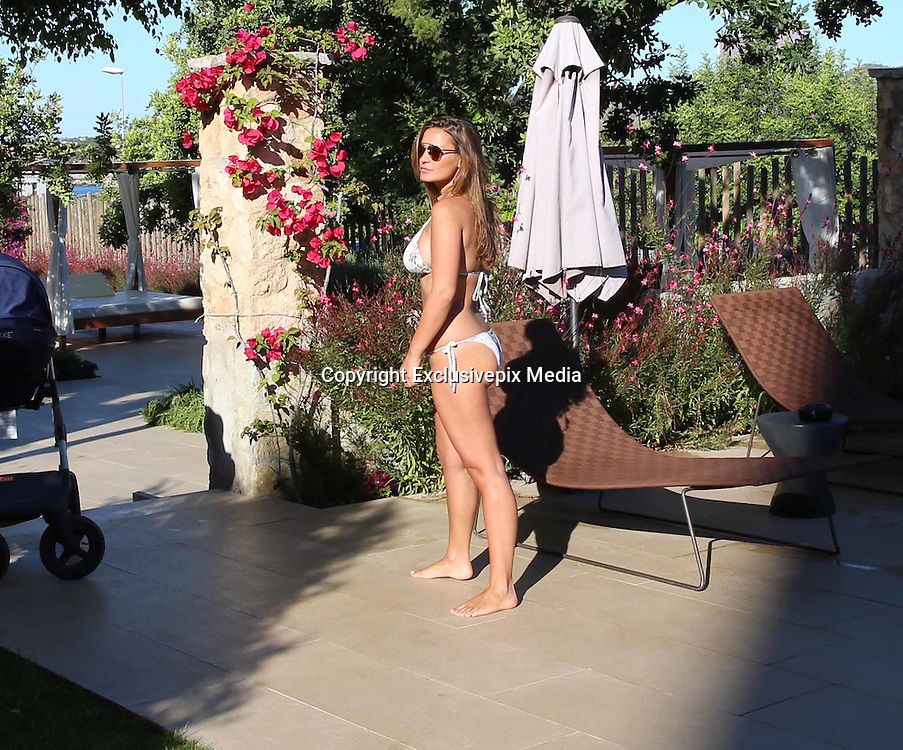 EXCLUSIVE<br /> Sam Faires looking stunning in Bikini by the pool in Ibiza<br /> &copy;Exclusivepix Media