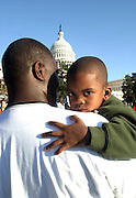 Atmosphere at Million Family March on October 16, 2000 on the grounds of The United States Capitol Building in Washington, D.C