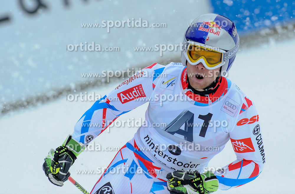 28.02.2016, Hannes Trinkl Rennstrecke, Hinterstoder, AUT, FIS Weltcup Ski Alpin, Hinterstoder, Riesenslalom, Herren, 2. Lauf, im Bild Alexis Pinturault (FRA) Sieger // Alexis Pinturault of France (winner) reacts after his 2nd run of men's Giant Slalom of Hinterstoder FIS Ski Alpine World Cup at the Hannes Trinkl Rennstrecke in Hinterstoder, Austria on 2016/02/28. EXPA Pictures © 2016, PhotoCredit: EXPA/ Erich Spiess