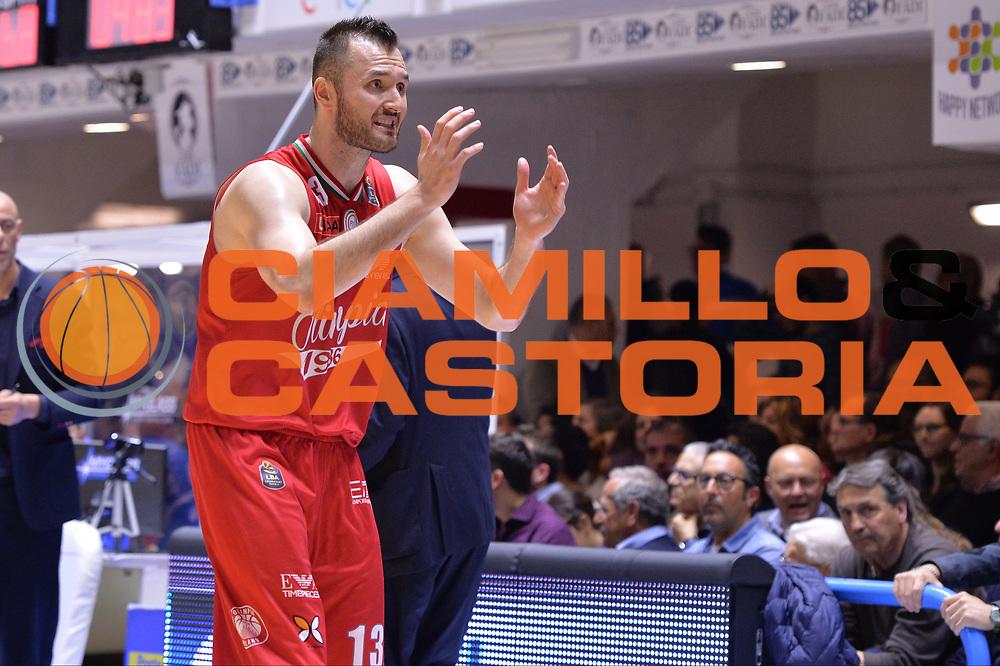 Macvan Milan<br /> Enel Brindisi - EA7 Emporio Armani Milano<br /> BASKET Serie A 2016-2017<br /> Brindisi 15/04/2017<br /> FOTO CIAMILLO / M.Longo