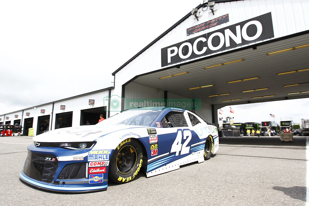 June 1, 2018 - Long Pond, Pennsylvania, United States of America - Kyle Larson (42) takes to the track to practice for the Pocono 400 at Pocono Raceway in Long Pond, Pennsylvania. (Credit Image: © Justin R. Noe Asp Inc/ASP via ZUMA Wire)