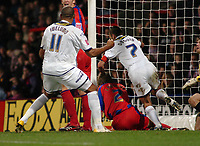 Photo: Kevin Poolman.<br />Crystal Palace v Colchester United. Coca Cola Championship. 09/12/2006. Colchester captain Karl Duguid (no7) pushes the ball over the line for their first goal.