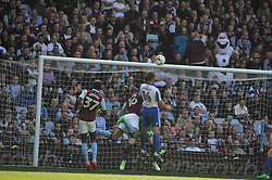 BRIGHTON STEVE SIDWELL TRYS A SHOT ON VILLAS GOAL, Aston Villa v Brighton &amp; Hove Albion Sky Bet Championship Villa Park, Brighton Promoted to Premiership Sunday 7th May 2017 Score 1-1 <br /> Photo:Mike Capps